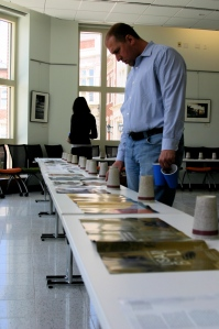 Following lunch, Dave Elsessor gets back to judging the illustration category.